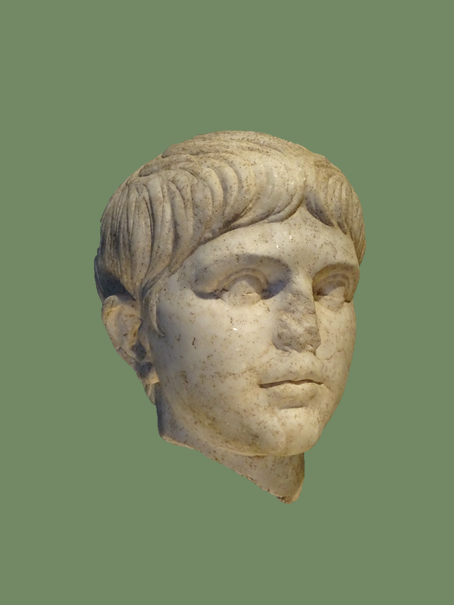 Nero, around 50 AD. Nero was the son of Agrippina the Younger and stepson of Emperor Claudius. Reigned 54 - 60 AD. (photo lngrd) Collection Roemisch-Germanisches Museum, Cologne, Germany. www.roemisch-germanisches-museum.de/