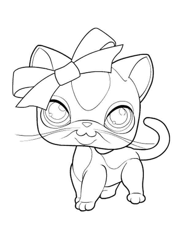 Kids N Fun Coloring Page Littlest Pet Shop Littlest Pet Shop Cat Coloring Page Little Pets Turtle Coloring Pages