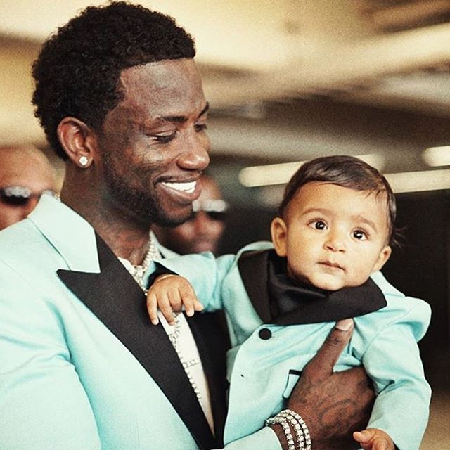 Gucci Mane, Gucci tux, and a Gucci baby I don't think DJ