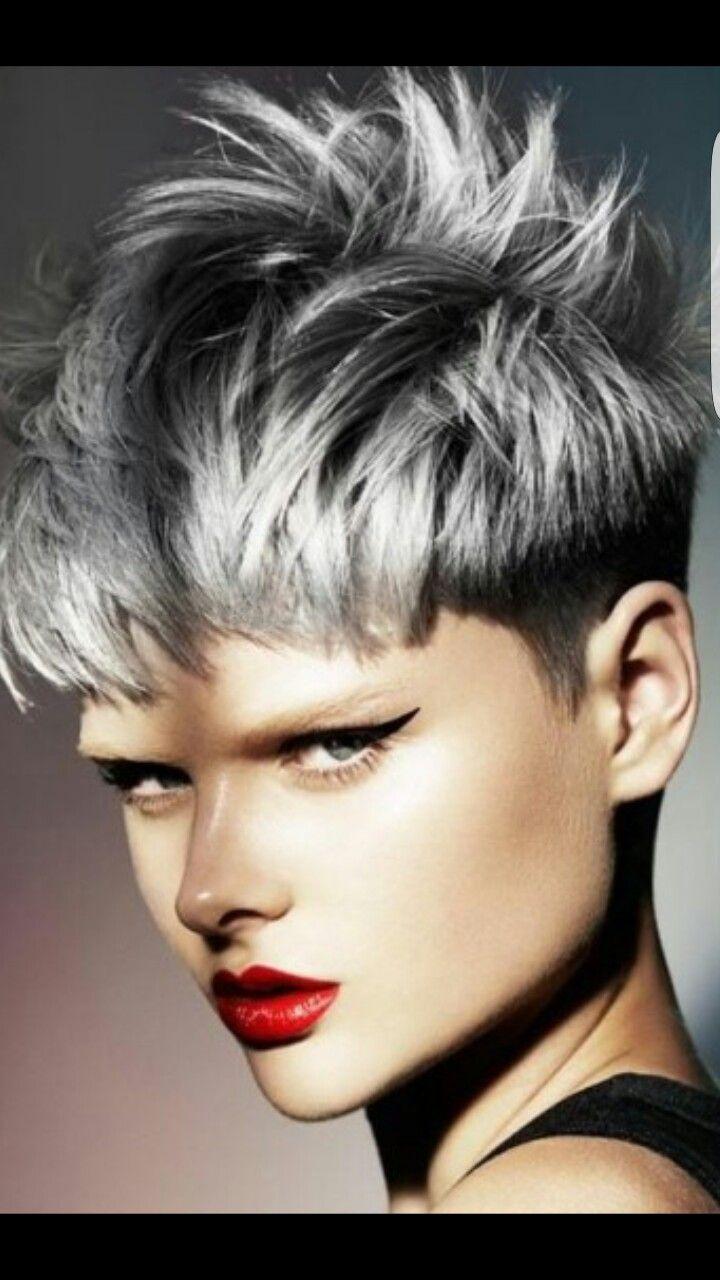 Ana Fernández García pin de ana fernandez garcia en pelo | pelo gris corto, pelo