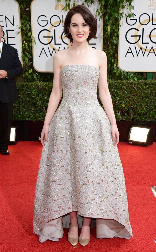 Michelle Dockery from Oscar de la Renta's Top Red Carpet Looks The rising fashion star was perfectly ladylike at the 2014 Golden Globes.