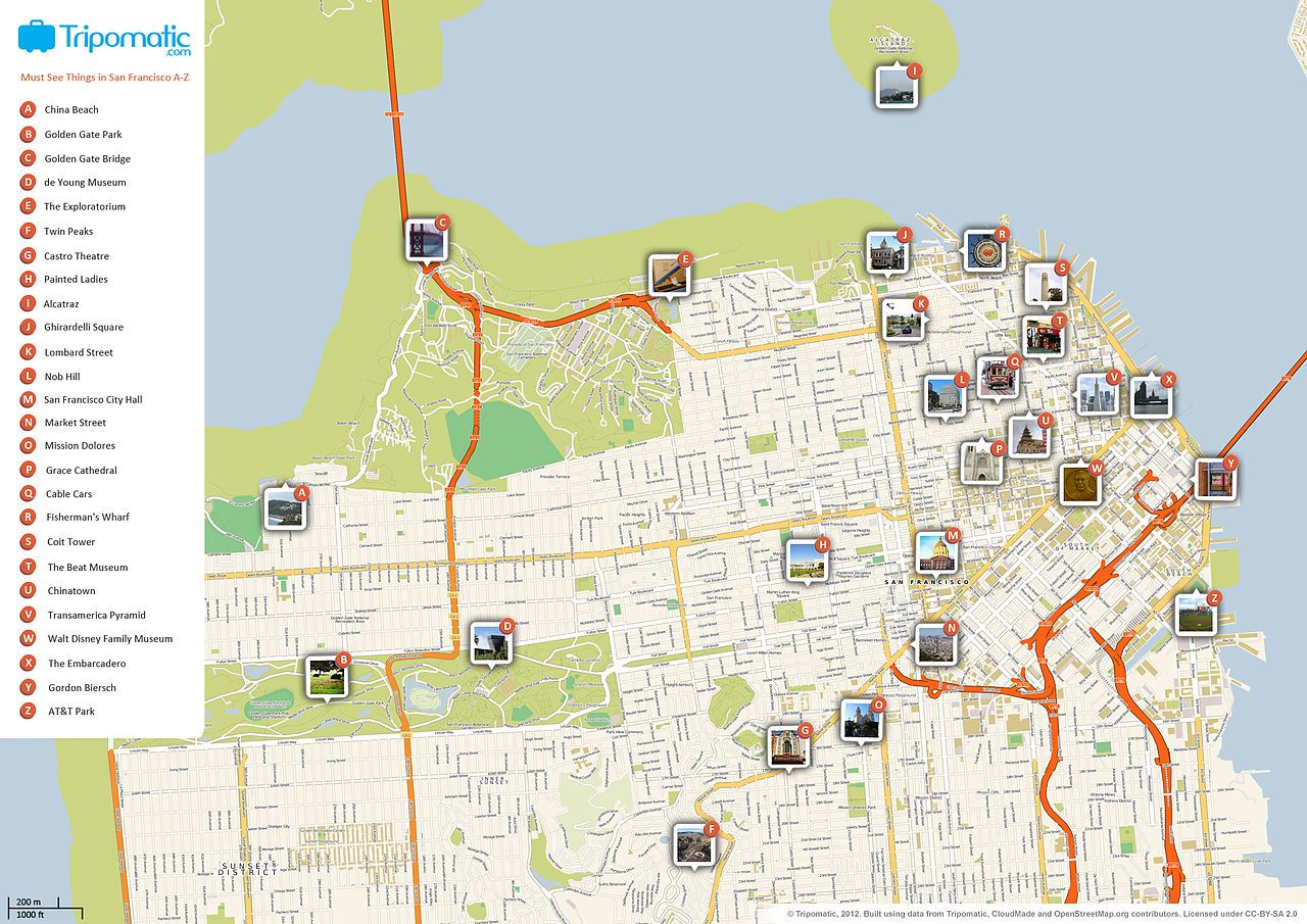 San Francisco Tourist Map Printable London Attractions - London city map with attractions