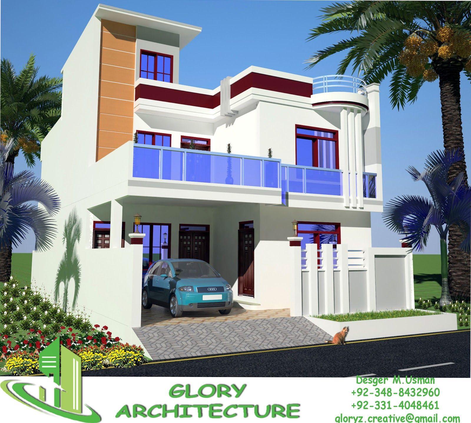 house elevation front elevation 3D elevation 3D view 3D house