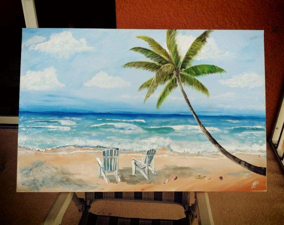 100%handmade High Quality Art Abstract Landscape Oil Painting On Canvas Handmade Beach Chair Painting For Wall Artworks Fragrant Aroma Home Decor