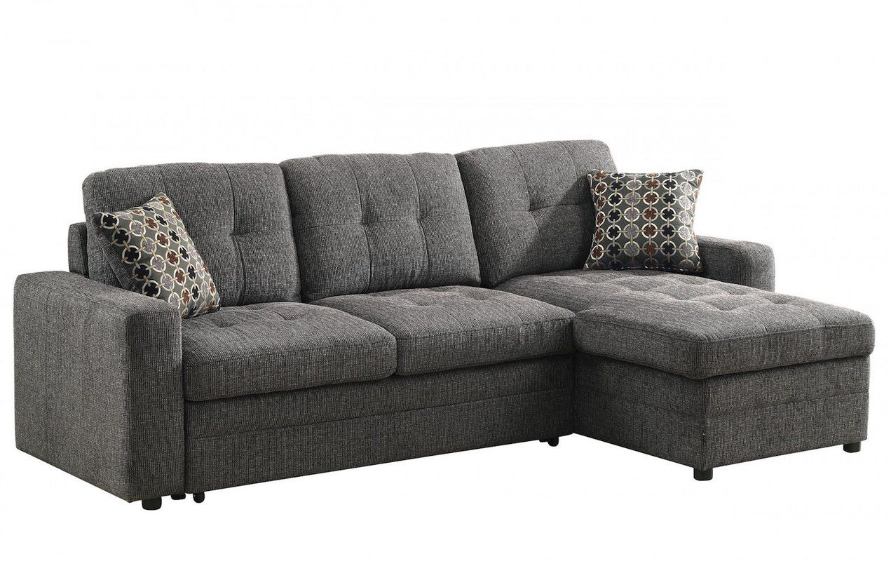 coaster gus charcoal chenille upholstery small sectional storage rh pinterest com