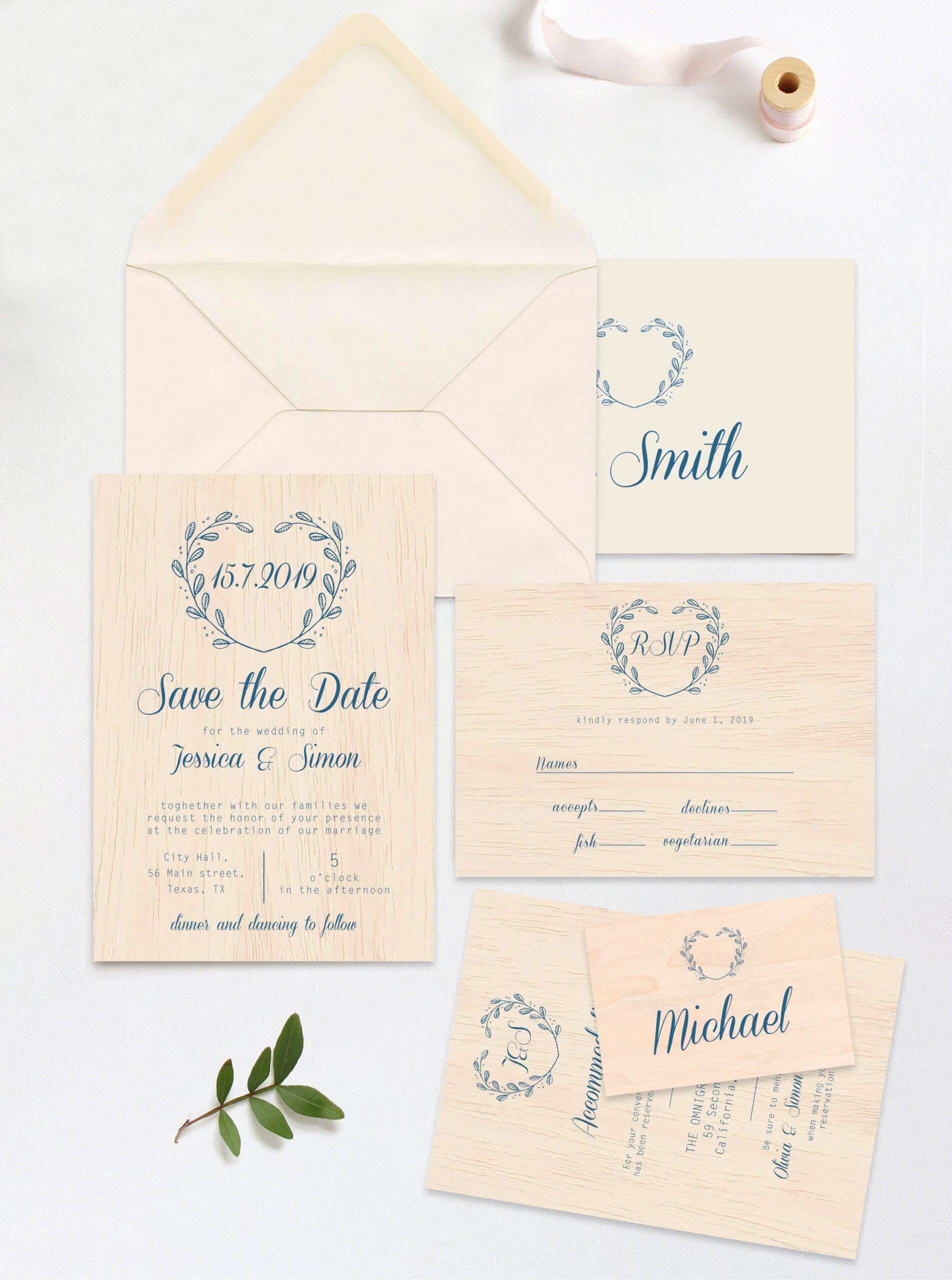 Invitation Card Format Size Wedding Invitation Size Wedding Invitations Rsvp Cards Invitation Card Format