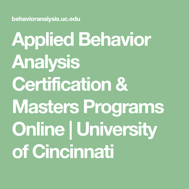 applied behavior analysis certification & masters programs online ...