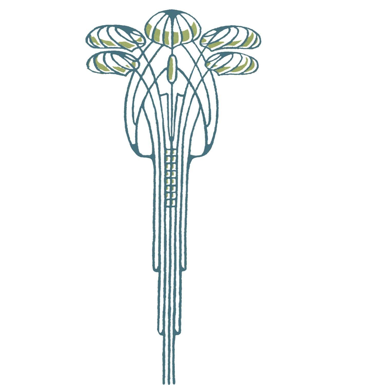 Art Nouveau Tree Hand Screen Printed Women's Tee 3