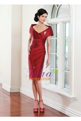 a05a02dff5f9 Knee Length Red Off-shoulder Sexy Mother of The Bride Dress | Sexy ...