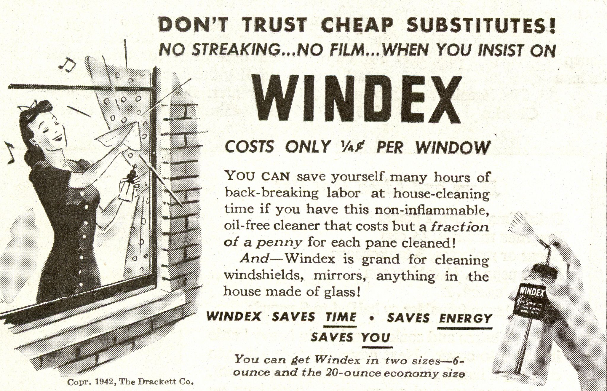 "Windex ~ ""Don't trust cheap substitutes!"""