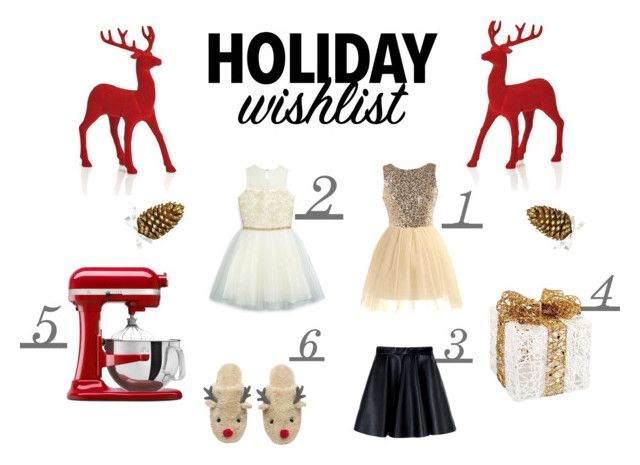 """my holiday wish list!"" by stella5sos ❤ liked on Polyvore featuring KitchenAid, Melrose International, David Charles, MSGM, contestentry and 2015wishlist"