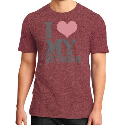 Lovely veterans wife District T-Shirt (on man)