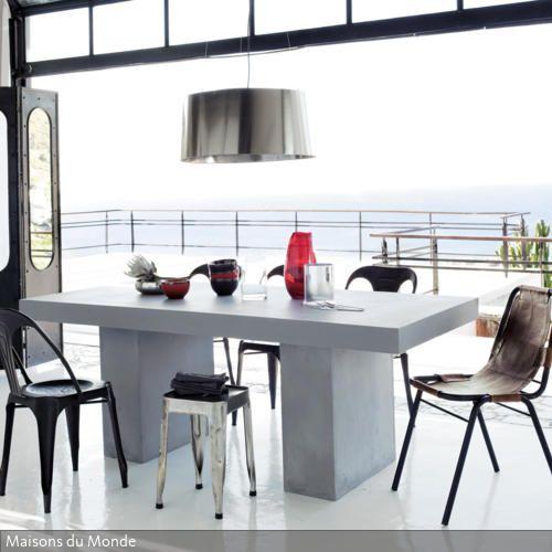 Esstisch in Beton-Optik | Esstisch | Esstisch, Tisch und Esszimmer