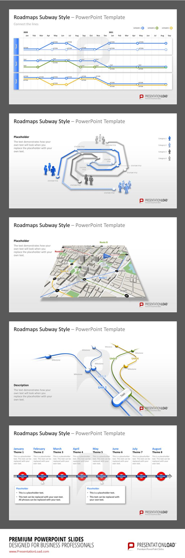 Subway Roadmap PPT Templates #presentationload  Http://www.presentationload.com/roadmaps Subway Style.html