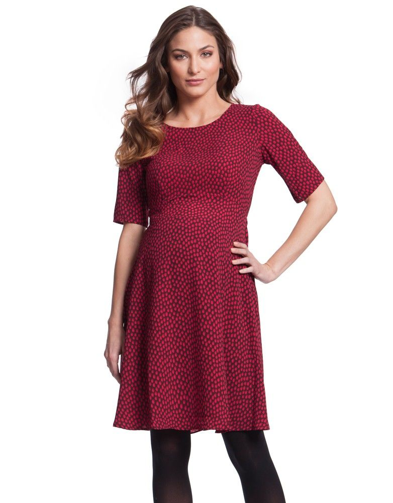 cerise dot maternity dress seraphine festive fashion christmas party outfit love maternity style fashionably pregnant style the bump - Christmas Maternity Dresses