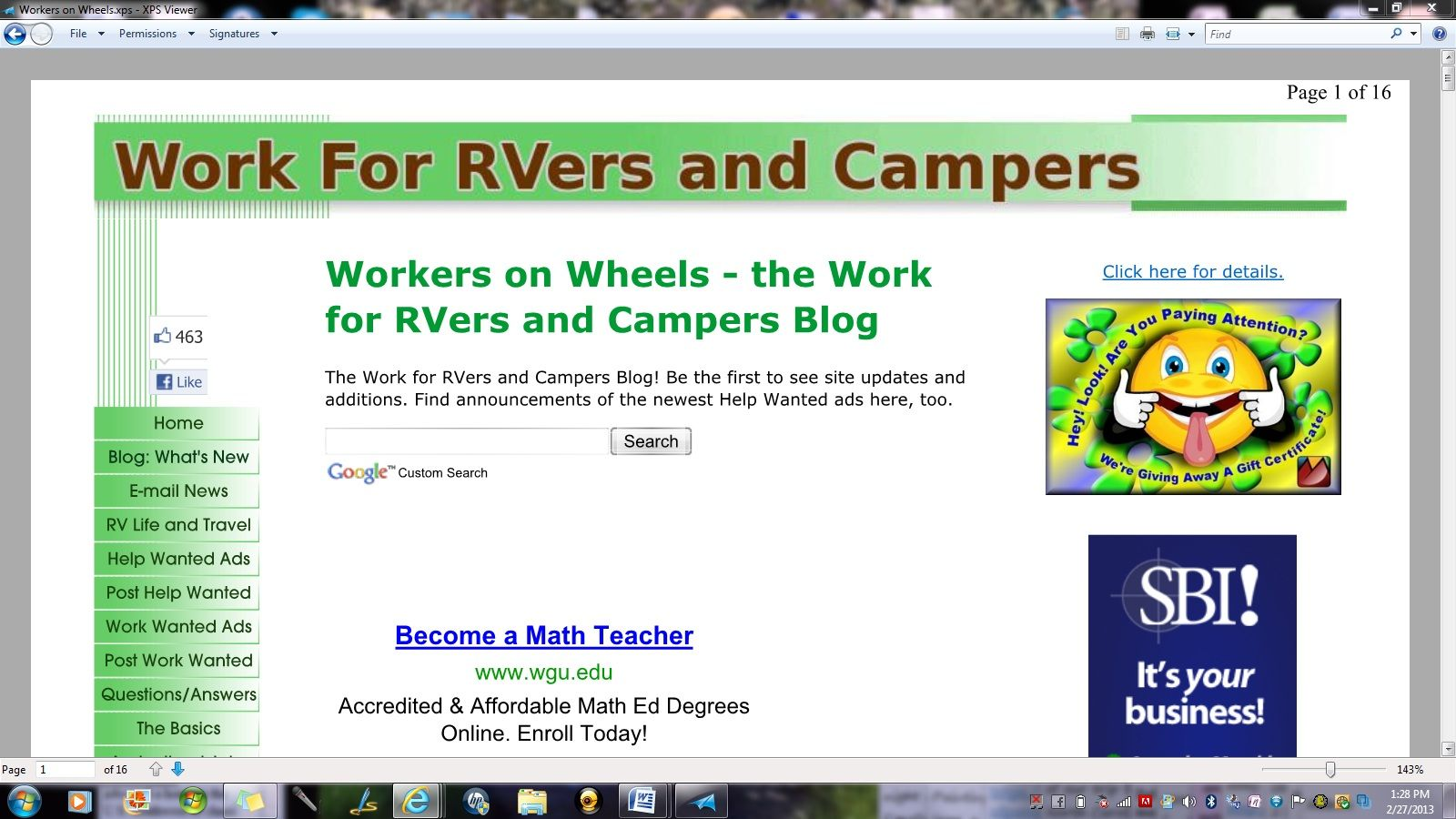 Workers On Wheels >> Workers On Wheels Jobs For Rvers And Campers Rv Workamping