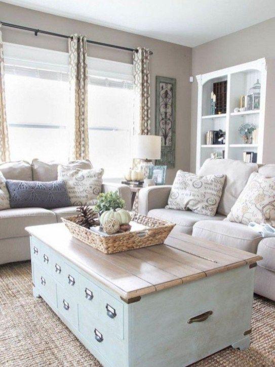 50 Stunning Coastal Living Room Decoration Ideas #coastallivingrooms