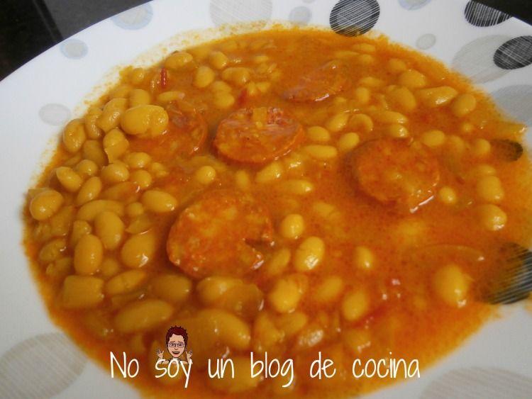 No Soy Un Blog De Cocina Potaje De Judias Con Chorizo Receta De Potaje Alubias Con Chorizo Garbanzos Con Chorizo