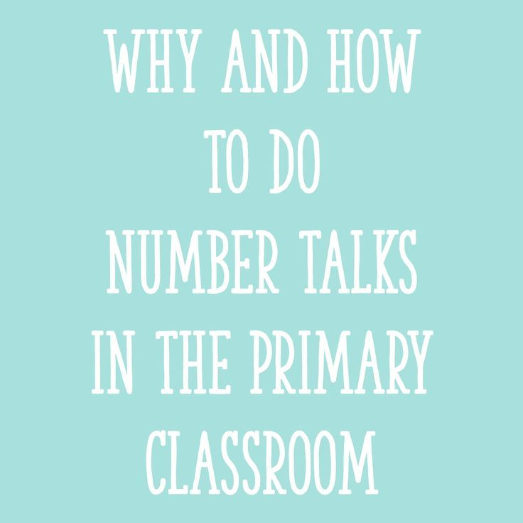 Why and How to Do Number Talks in the Primary Classroom | Number ...