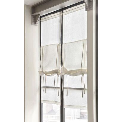 Leinen-Raffrollo Levens aus Leinen Vorhaenge Pinterest - wohnzimmer gardinen landhausstil