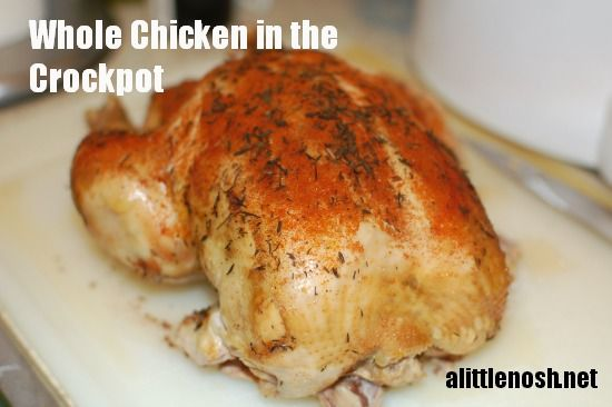 Easiest Ever Whole Chicken In The Crockpot - A Little Nosh -3939