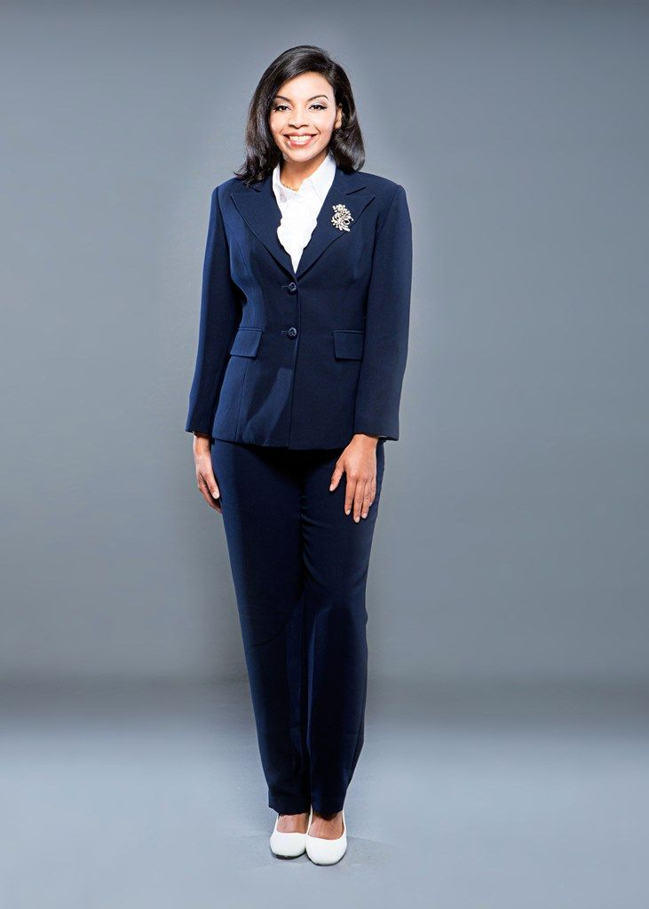 Giovanna 2 Piece Navy Pant Suit(also available in black and taupe ...