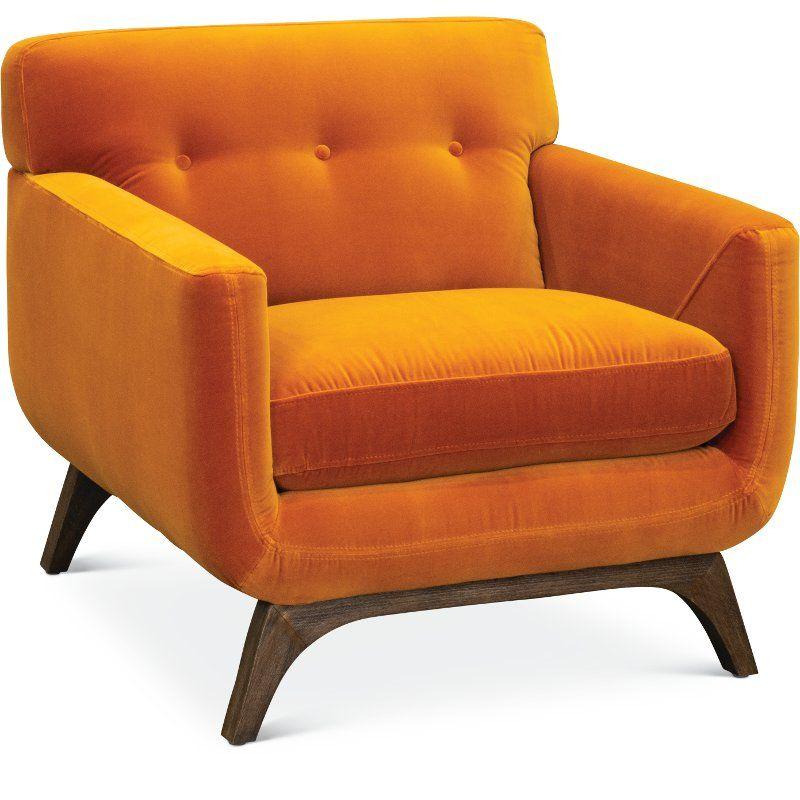 Mid Century Modern Amber Orange Chair Falkirk Mid Century Modern Living Room Furniture Love Seat Orange Loveseat