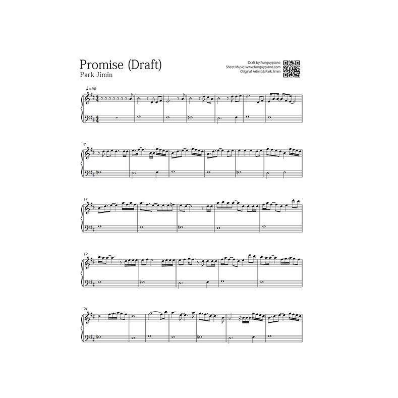 Bts Jimin Promise Piano Sheet Learn Piano Songs Piano Notes