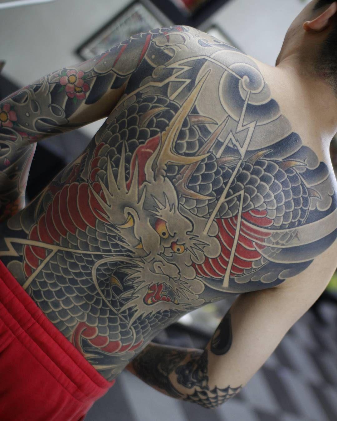 Yakuza Full Back Tattoo Japanese