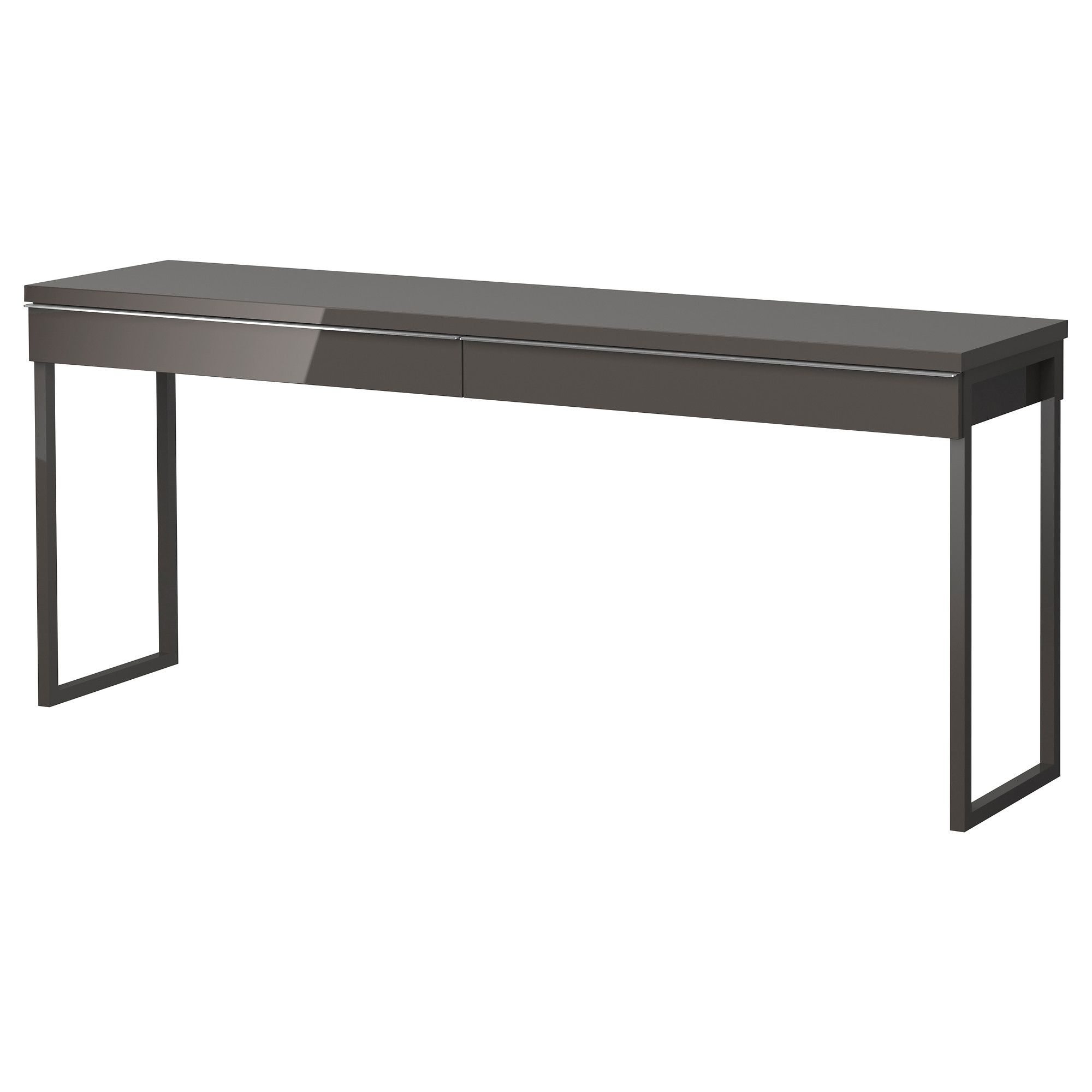 Schreibtisch ikea mikael  BESTÅ BURS Desk - high gloss gray - IKEA BESTÅ BURS Desk IKEA Two ...