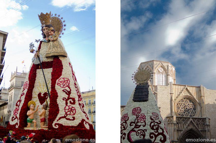 Virgen de los Desamparados, después de la ofrenda de flores