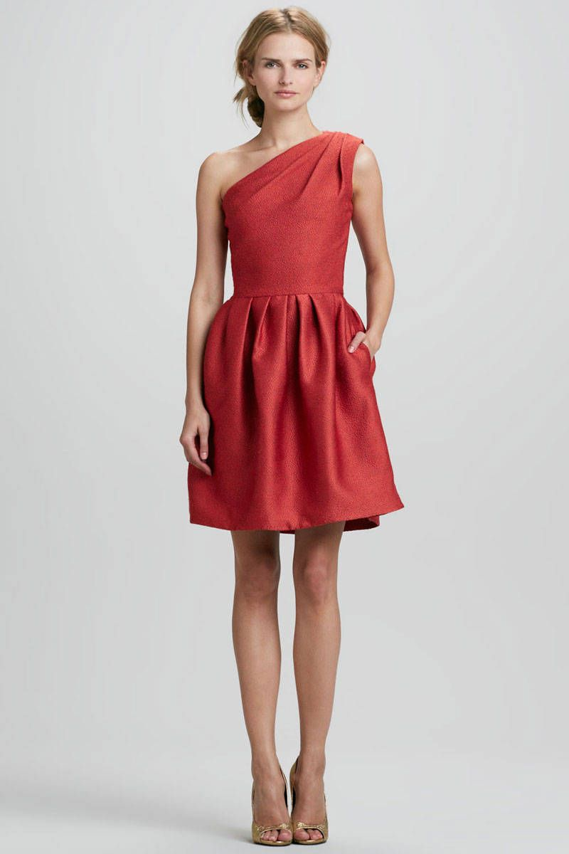 Dresses to wear to a fall wedding for a guest   Dresses to Wear to a Fall Wedding  Halston heritage Shoulder