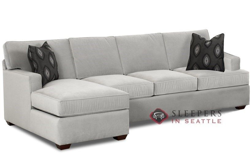 Savvy Lincoln Chaise Sectional Sleeper Sofa Queen At