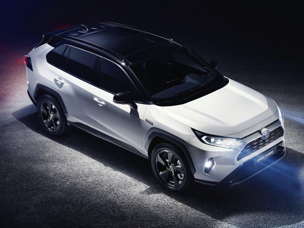 2019 Toyota RAV4 Hybrid Crossover, white SUV wallpaper