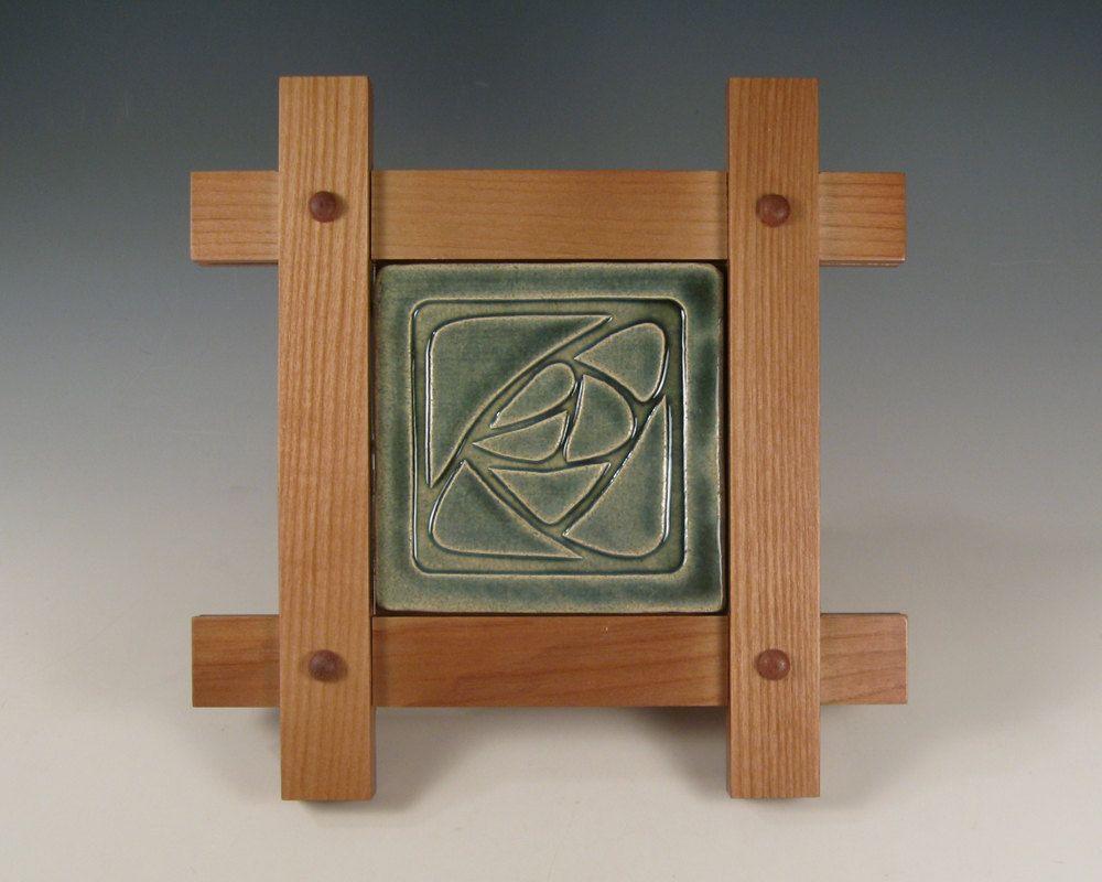 Decorative Tile Frames Copper Rose Design Tile In Mission Style Frame Frameрамки
