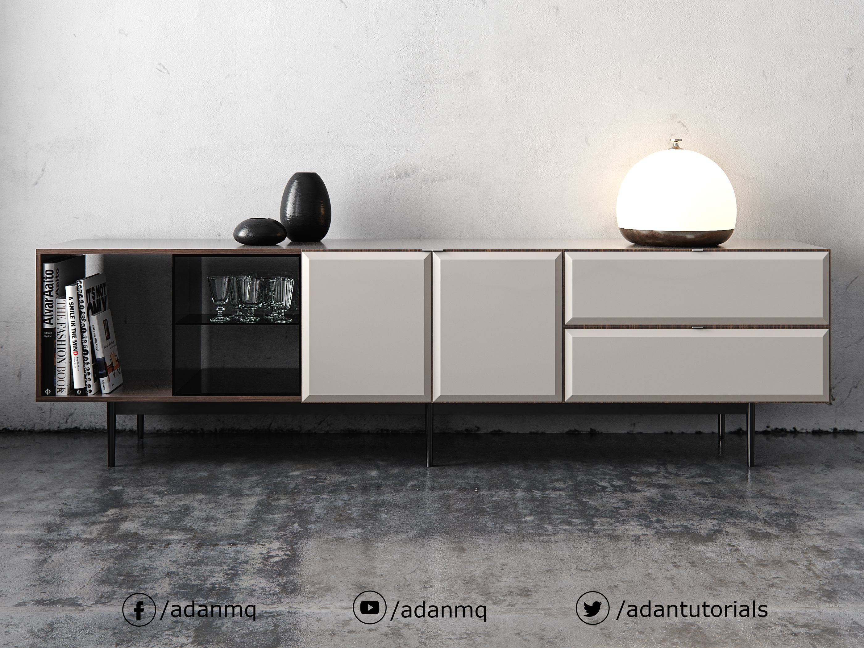 Minotti Sideboard On Behance Furniture Sideboard Furniture