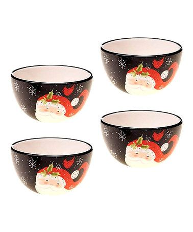 Santa Ice Cream Bowl - Set of Four
