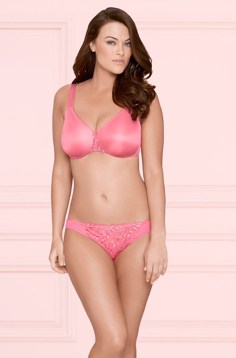 0a1b9a0a1453 Sensuous Sides 3 inch Minimizer Bra & Sensuous Lace Bikini in Peony  #SomaIntimates #LoveSoma