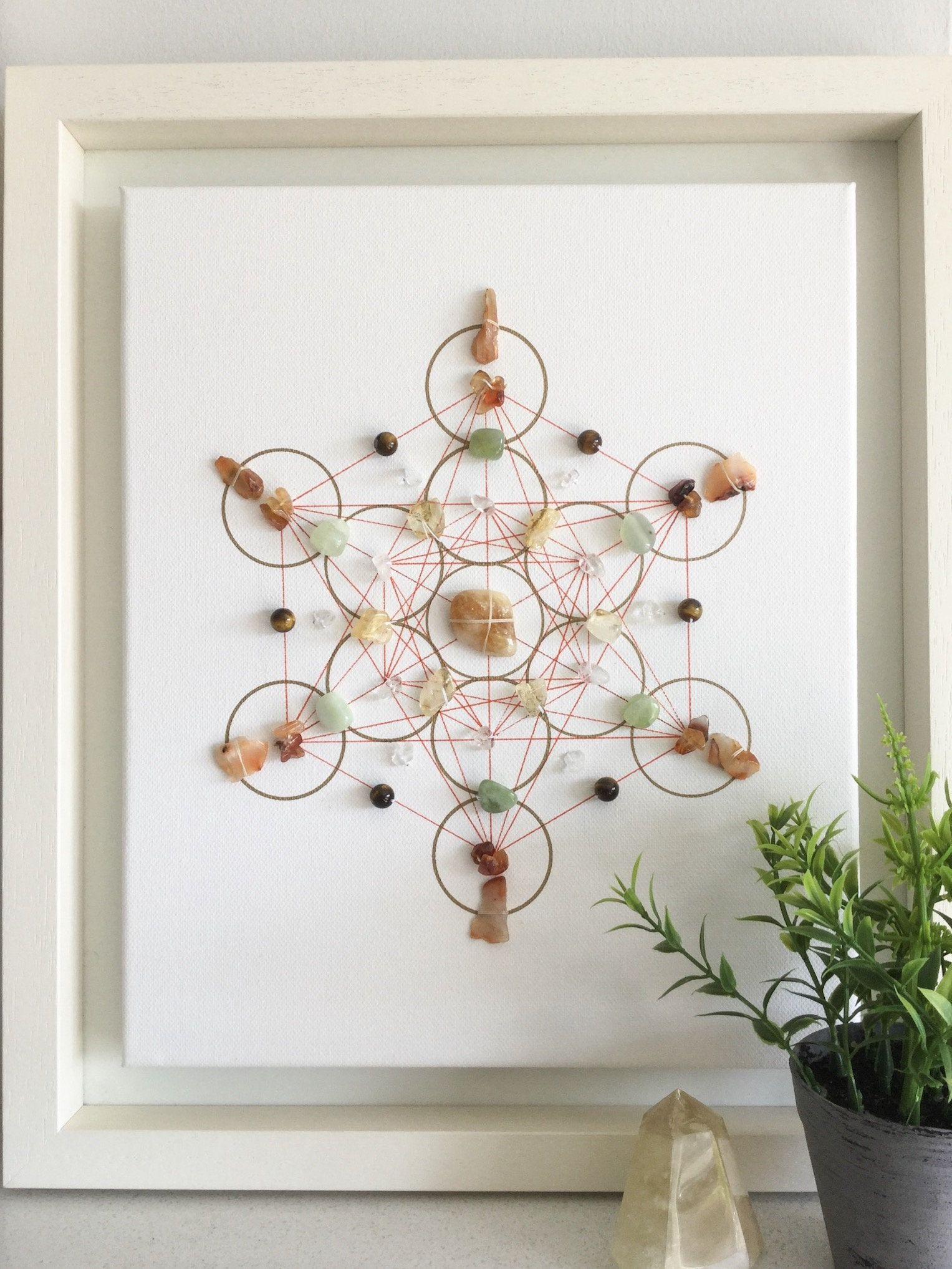 Successful Business, Framed Crystal Grid, Crystals For Success, Office  Warming Gift, Business