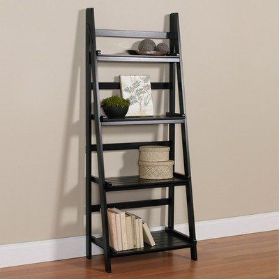 Ladder Shelf By Inplace Shelving 92 99 0194372 Features Great Addition To A Living Room Bedroom Or Bathroom Ladd Ladder Shelf Shelves Ladder Shelf Decor