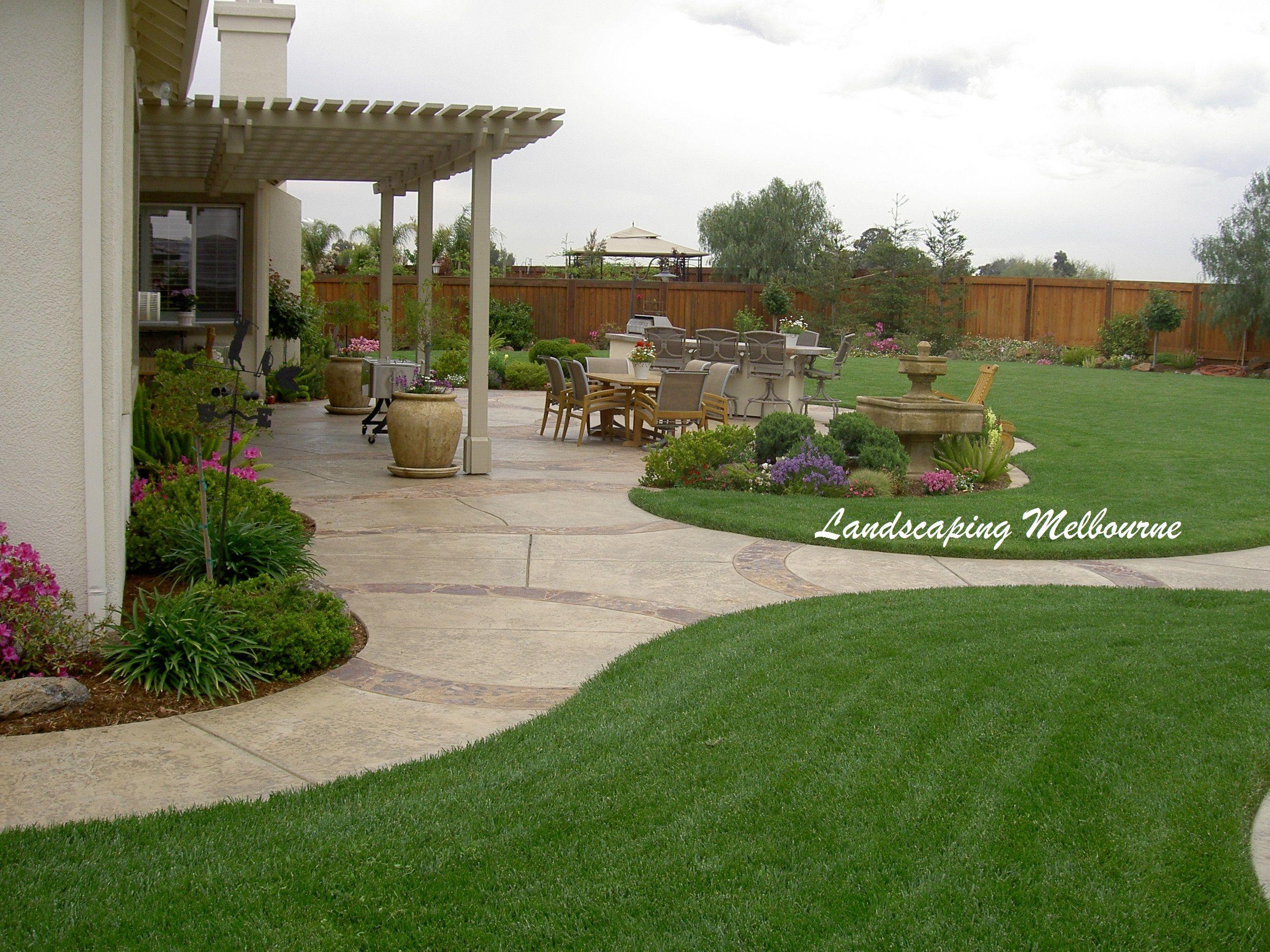 Melbourne Large Backyard Landscaping Patio Landscaping Easy Backyard Backyard garden ideas melbourne