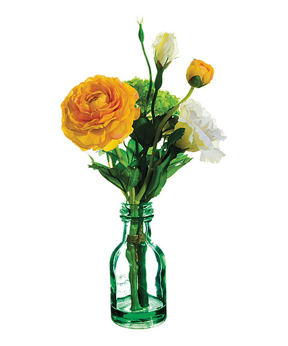 Another Great Find On Zulily Snowball Lisianthus Glass Vase