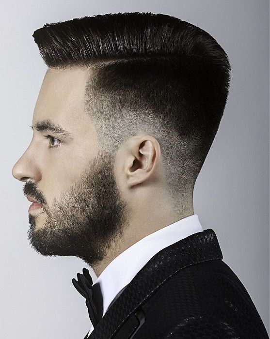Short Black Back Parting Hairstyle Hair Cut For Men Men S Haircuts
