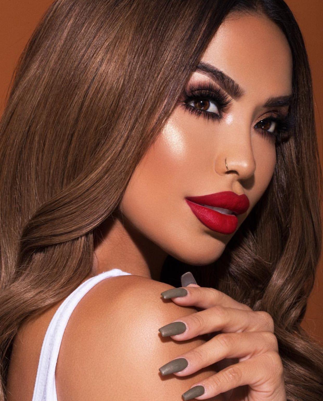 Instagram @iluvsarahii | Beauty, Beautiful lipstick, Brunette makeup