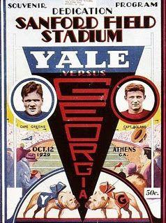 Program For The Yale Vs Uga Game Oct 12 1929 Dedication Day For Sanford Stadium Football Poster Yale Bulldogs Georgia Bulldogs