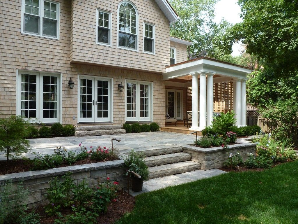 raised flagstone patio - Google Search | Bluestone patio ... on Raised Concrete Patio Ideas id=96608