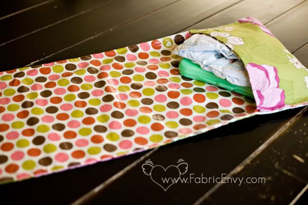 Fabric Envy: All in One Diaper Clutch and Changing Pad by Cluck ...