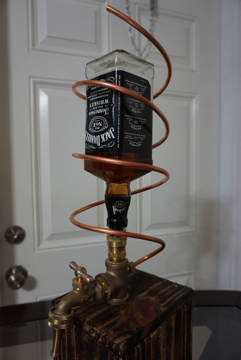 Custom Made Whiskey Liquor Dispenser Will Accept Most Bottles With The Standard Opening As Long It Does Not Have Integrated Pour Spout
