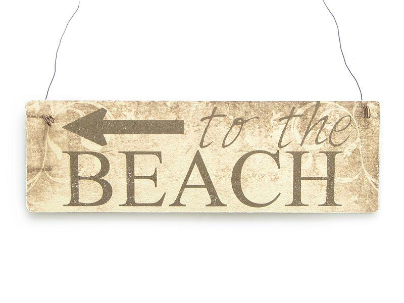 Schilder Shabby Look farbiges vintage shabby schild dekoschild türschild to the beach