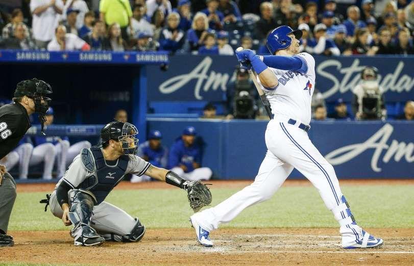 2018 MLB Season SMOAK BOMB Justin Smoak of the Toronto